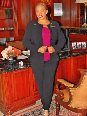 Townsend Hotel concierge Camille Young decked out in her Max Mara finest.