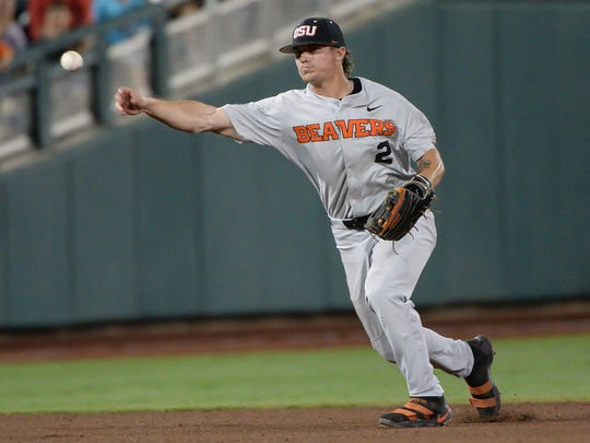 Jun 23, 2018; Omaha, NE, USA; Oregon State Beavers