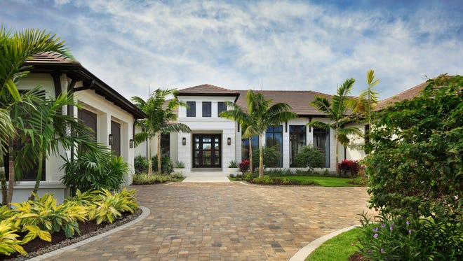 Gulfshore Homes' furnished Dorado estate model in Prato offers 8,862 total square feet with 6,336 square feet under air, priced at $4.849 million, furnished.