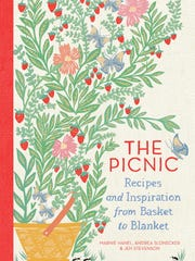 """The Picnic: Recipes and Inspiration from Basket to Blanket"" book by Marnie Hanel is the theme book for July 9's Cooking The Books book club."