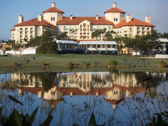 The Ritz-Carlton Golf Resort overlooks the Tiburón Golf Club during the QBE Shootout in Naples last year.
