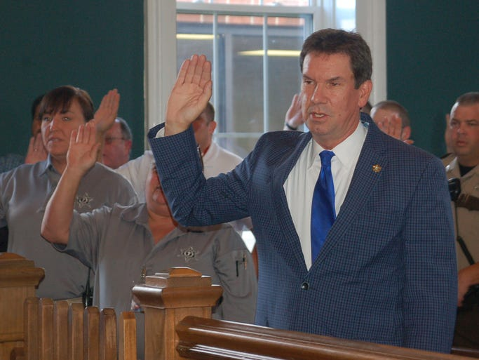 New Cheatham County Sheriff Mike Breedlove and his staff were sworn in on Sept. 3 during a special ceremony at the Cheatham County Circuit Courtroom.