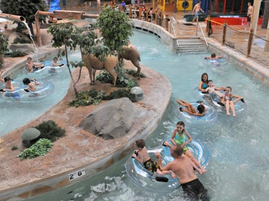 Other areas in the Loggers Landing Waterpark include hot tubs, Powder Keg Puddle, a splash pool for younger children and Little Bull Falls, an activity pool.