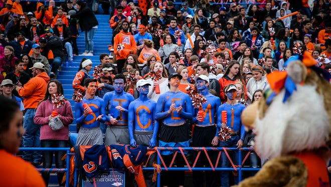 The San Angelo Central Bobcats had a raucous, overflowing crowd for their regional semifinal game against No. 1 Allen on Nov. 25, 2016 at San Angelo Stadium.