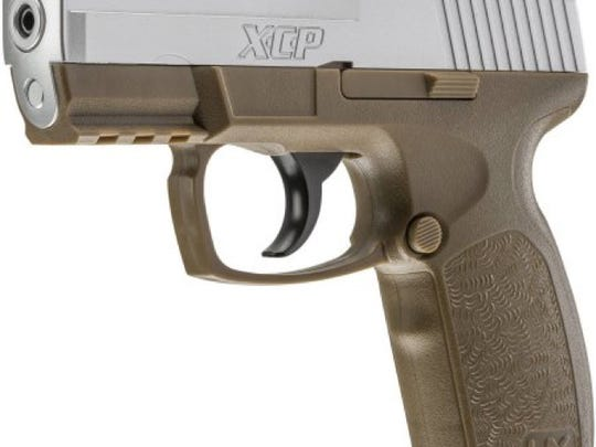 This stock photo depicts an Umarex XCP air pistol,