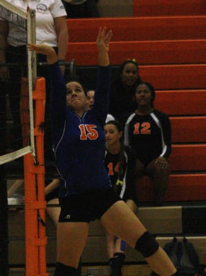 Garden City senior setter Hannah Vera-Burgos played strong during the Cougars' sweep of Belleville.