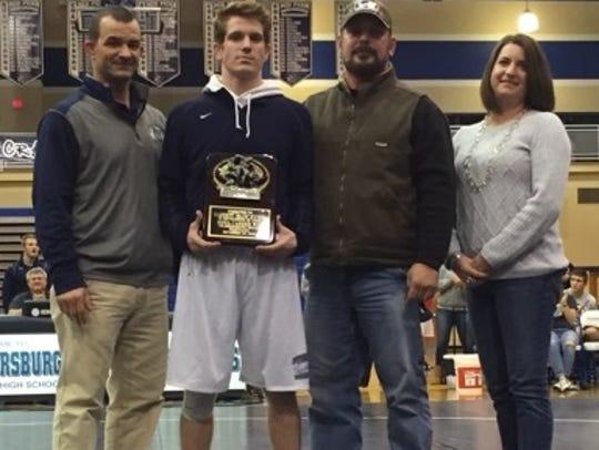 Chambersburg senior Garrett Kyner was honored for winning