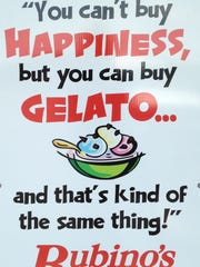 This sign is beside the door at Rubino's Italian Food's flagship store at 1304 E. Ridge Road in Irondequoit.