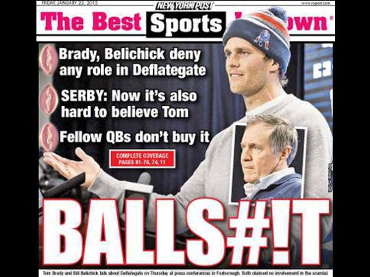 New York Post sports cover for Friday, Jan. 23, 2015