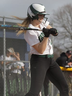 Madison's Taylor Moore swings the bat while playing at Ontario on Thursday.