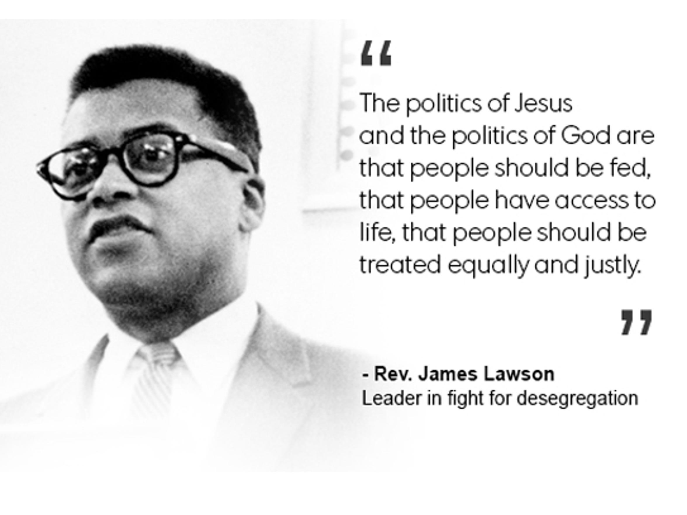 Rev. James Lawson, leader in fight for desegregation