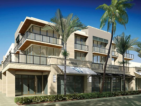 Rendering of the future Warwick Building planned for Fifth Avenue South in Naples.