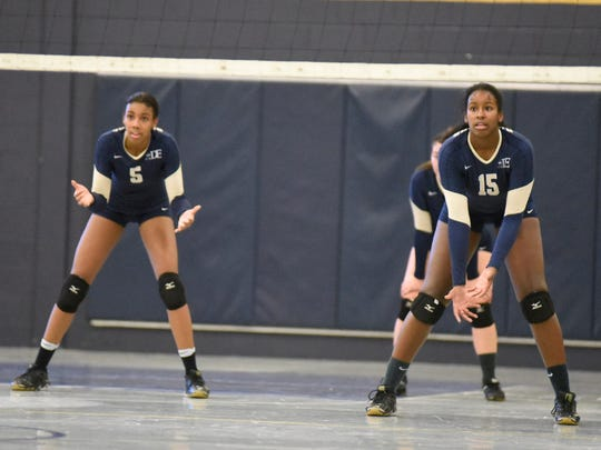Autumn Leak, left, and sister Audrey Leak, right, have sparked Dwight-Englewood volleyball to a special season.