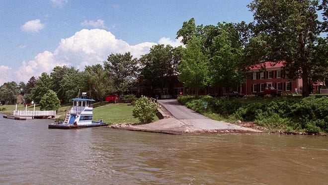 The Ohio River town of Augusta in Bracken County. Flood insurance rates there are set to rise.
