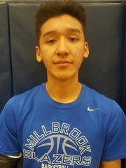 Millbrook boys basketball player Humberto Cabrera