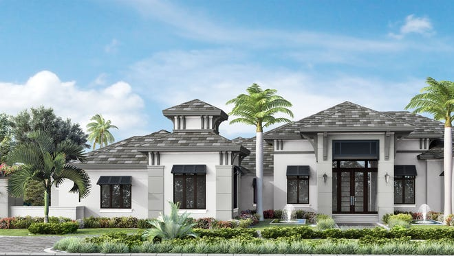 McGarvey's Brentwood model has 5,336 square feet under air and is on a lakefront site.