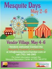 2018 Mesquite Days vendor flyer