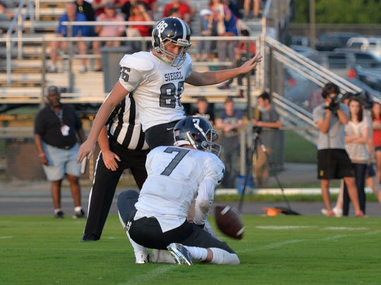 Siegel's Jacob Smith is a finalist for the Mr. Football Kicker of the Year Award.