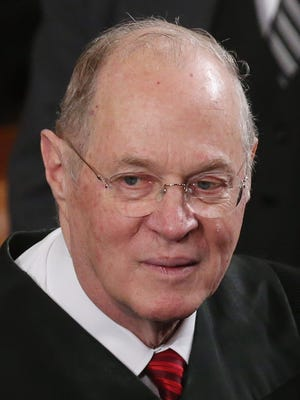 Supreme Court Associate Justice Anthony Kennedy attends U.S. President Barack Obama's State of the Union speech before a joint session of Congress at the U.S. Capitol February 12, 2013 in Washington, DC.