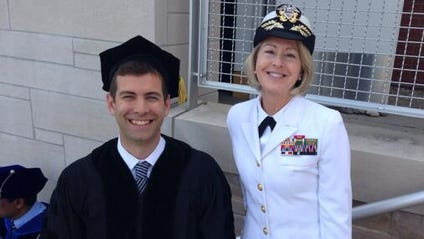 Former Butler coach Brad Stevens at the school's graduation ceremony this weekend.