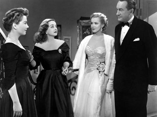 """""""Fasten your seat belts, it's going to be a bumpy night!"""" Anne Baxter, Bette Davis, Marilyn Monroe and George Sanders star in """"All About Eve,"""" which returns to the Paradiso on Sunday and Wednesday."""
