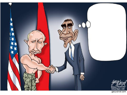 Caption This Putin and Obama cartoon