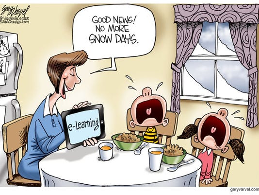 Cartoonist Gary Varvel: Snow days will become e-learning days