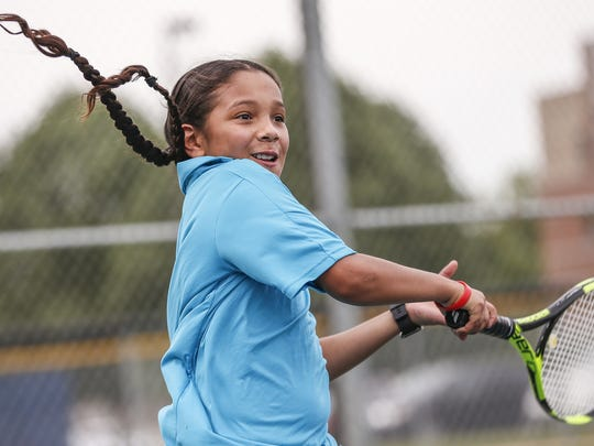 """""""It just makes me more confident,"""" Rogelio said of his tennis game. """"It makes me feel like I'm good at a lot of different stuff."""" Rogelio is a fine basketball player, too."""