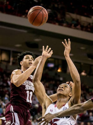 Since Quinndary Weatherspoon has started at power forward at 6-4, Mississippi State's emphasis on rebounding has increased.