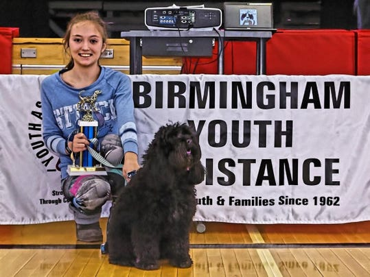 2017 Best in Show Winner Benny with owner Allison O'Donnell; photo credit Ca