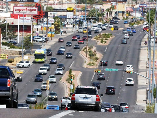Traffic flows Friday afternoon along North Mesa Street near Coronado High School.