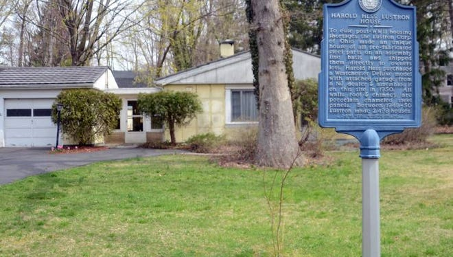 The Harold Hess Lustron House in Closter.