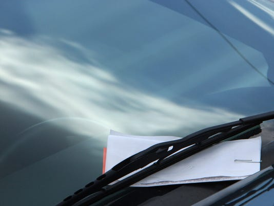 Car with parking ticket generic