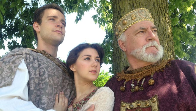 """Cast members of """"Cymbeline"""" appear in the Richmond Shakespeare Festival production."""