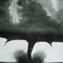 One of the first photos of a tornado was taken 130 years ago today.