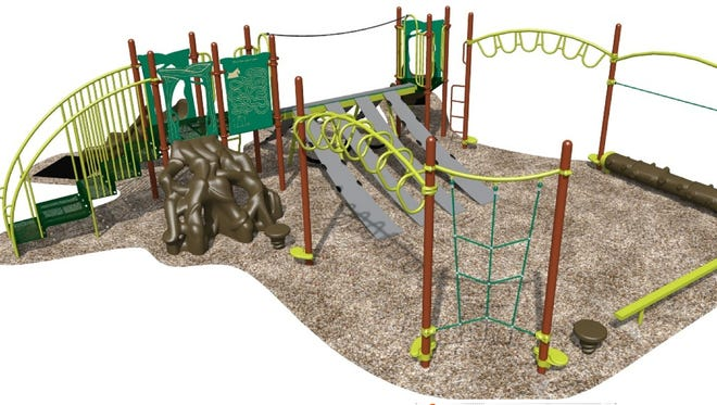 The West Bank Park playground to be constructed.