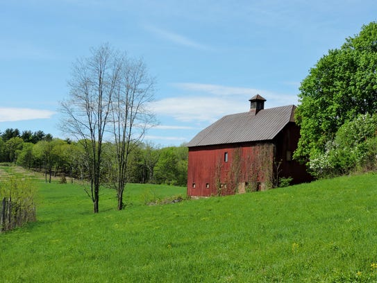 This barn and field are just part of the stunning landscape