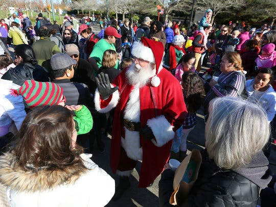 Santa Claus is coming to town, and he arrives at Salem's Riverfront Carousel on Friday, Nov. 25.
