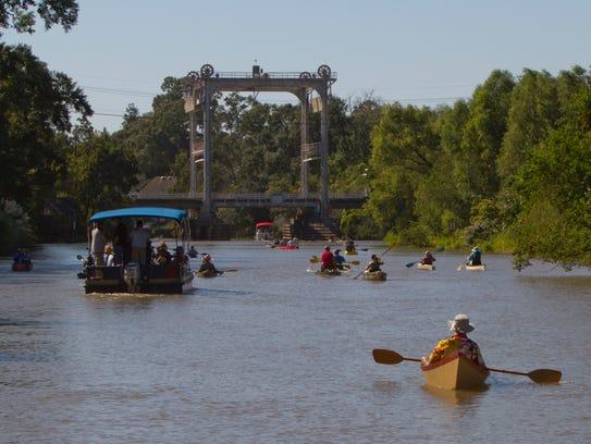Last year's Bayou Vermilion Festival & Boat Parade