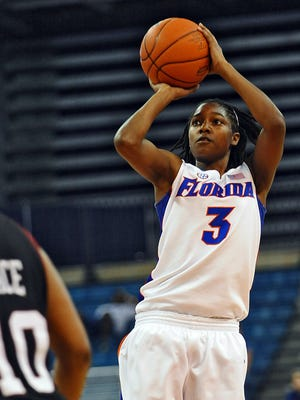 Florida's Sha Brooks (3), a North Side graduate, is being honored by the SEC.