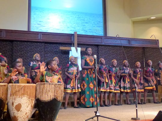 The African Children's Choir ensemble performed with Auntie Alice.