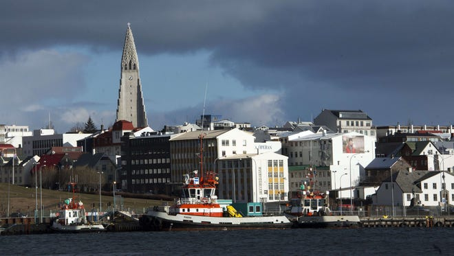 This picture taken on April 25, 2013 shows the city of Reykjavik, Iceland. A man has been shot dead in Iceland's first-ever armed police operation, officials said on Monday.