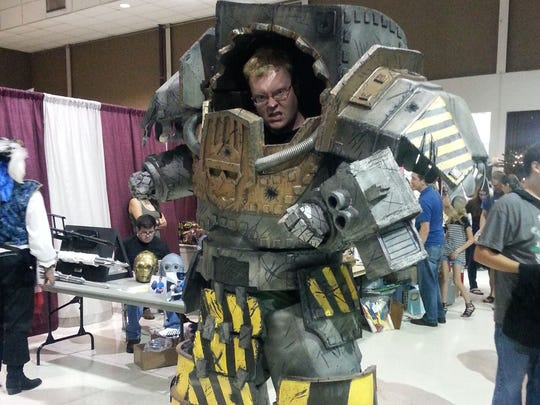 Hundreds of people showed off their homemade costumes -- like Kyle Clemens in his Terminator Armor from Warhammer 40,000 -- at the Space Coast Nerd Fest in Melbourne.