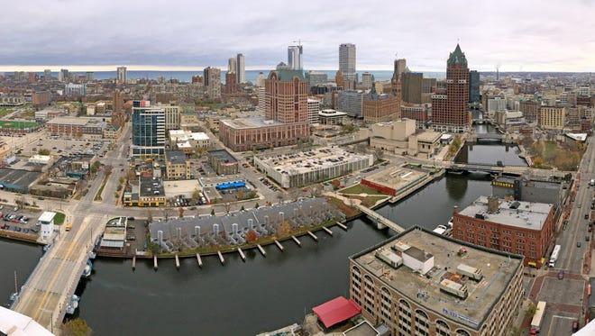 The Milwaukee River and skyline.