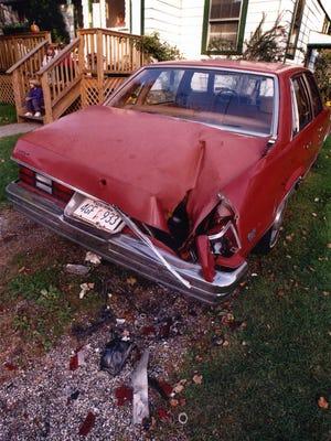 A meteorite struck this car in Peekskill in 1992.