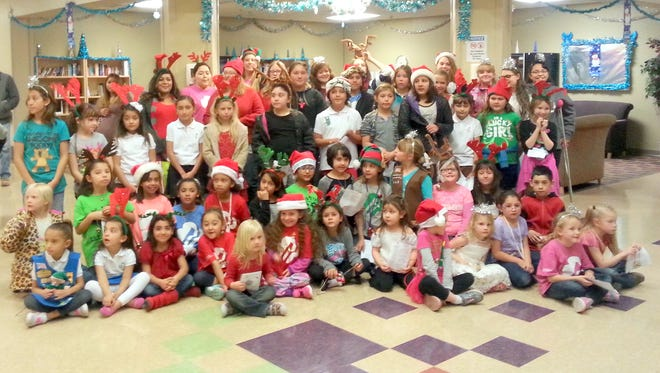 The Girl Scouts of the Desert Southwest participated in a Christmas caroling event at Fort Bayard Medical Center last week.