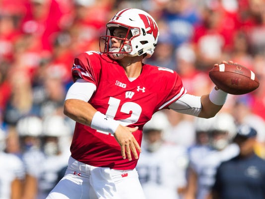 NCAA Football: Brigham Young at Wisconsin
