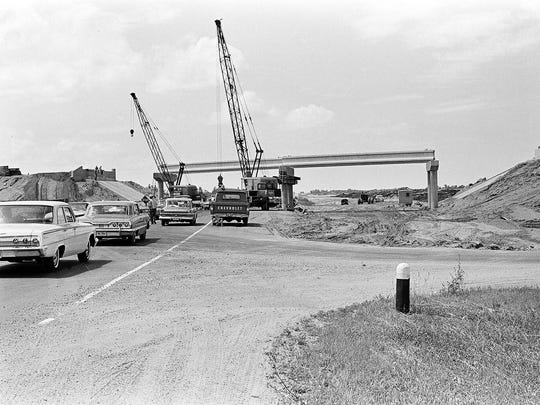 Construction of I-94 was well underway 50 years ago