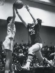 Anne Donovan, left, ruled the court at Paramus Catholic.