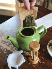 Peppermint tea at The Village Tearoom Restaurant and Bake Shop in New Paltz.